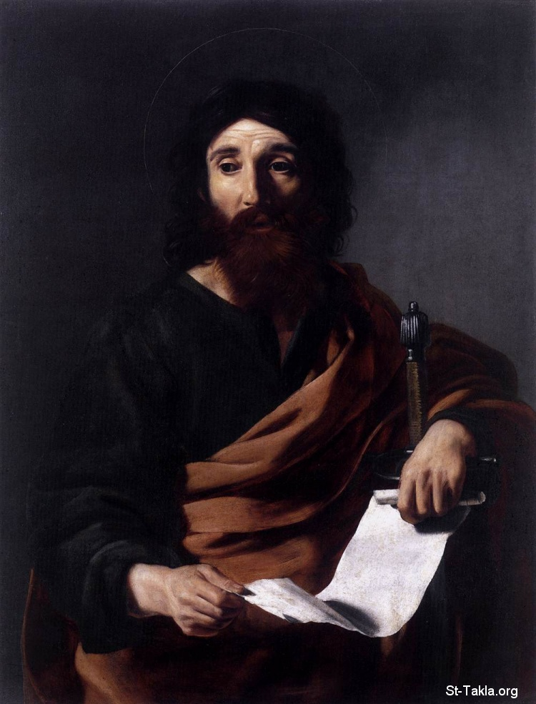 St-Takla.org         Image: St Paul - Nicolas Tournier - Religious Painting Art - 1625-26 - Oil on canvas, 96 x 71 cm -Mus�e des Augustins, Toulouse ����: ���� ������ ������ ���ӡ ��� ������ ������� �����ѡ ��� ��� ���ԡ ����� 96�71 �� ��� 1625-26� �� ���� �� �������� �����