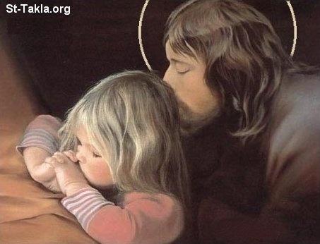 صور روعه للسيد المسيح  هتعجبكم قوي انا متأكد Www-St-Takla-org___Jesus-with-Children-04