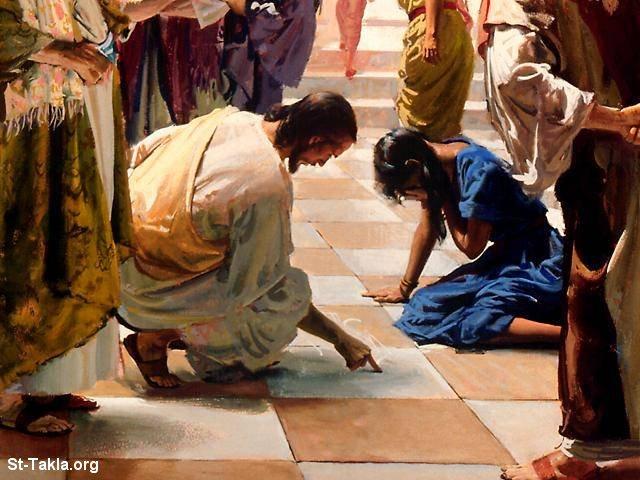 www-St-Takla-org___Jesus-with-Sinned-Woman-05