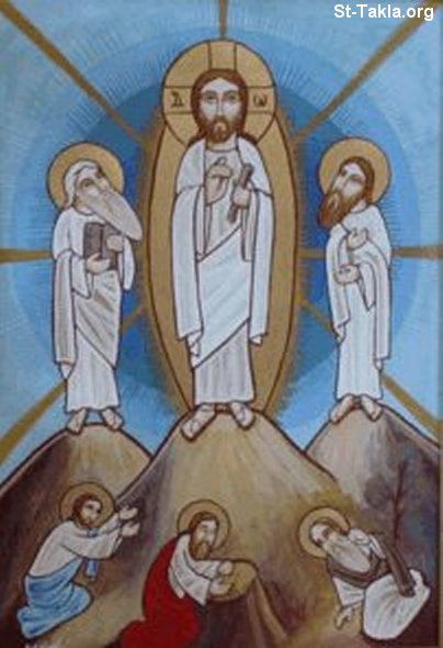 St-Takla.org Image: Modern Coptic icon of the Transfiguration of Jesus Christ ���� �� ���� ������ ����: �� ���� ������ �������: ������ ���� ������