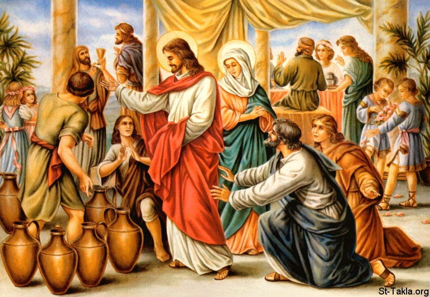 St-Takla.org         Image: Miracle of Jesus in the Wedding at Cana ����: ����� ����� ������ �� ���� ���� ������