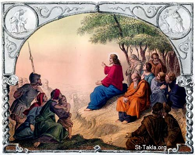 St-Takla.org Image: Jesus Christ Preaching the Sermon on the Mount ���� �� ���� ������ ����: ����� ���� ������ �� ����� ��� �����