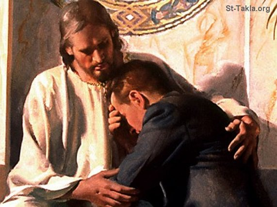 St-Takla.org Image: Jesus consoles a man ���� �� ���� ������ ����: ����� ������ ���� ���