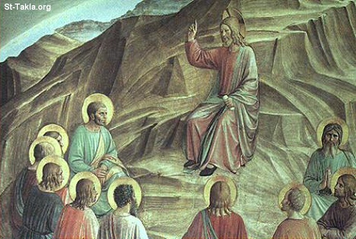 St-Takla.org Image: Jesus Christ Preaching the Sermon on the Mount, Fra Angelico, 1440 ���� �� ���� ������ ����: ����� ���� ������ �� ����� ��� ����� ��� ����������� 1440