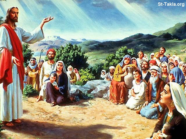 St-Takla.org Image: Jesus with the multitudes ���� �� ���� ������ ����: ������ �� ������