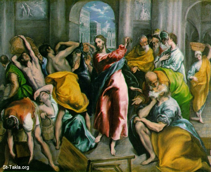 St-Takla.org Image: Jesus cleanses and clears the Temple by El Greco ���� �� ���� ������ ����: ��� ������ �� ������ ������ ���� ������ �� ���� ������ � �������� - ������ �� �����