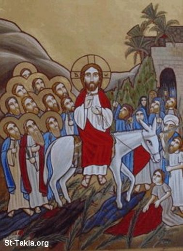 St-Takla.org Image: Coptic portrait of Palm Sunday ���� �� ���� ������ ����: ���� ����� �� ��� �������� �� ��� �����