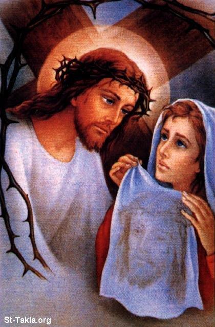 Ntoo Cuam Txoj Kev Www-St-Takla-org___Saint-Veronica-Handkerchief-04