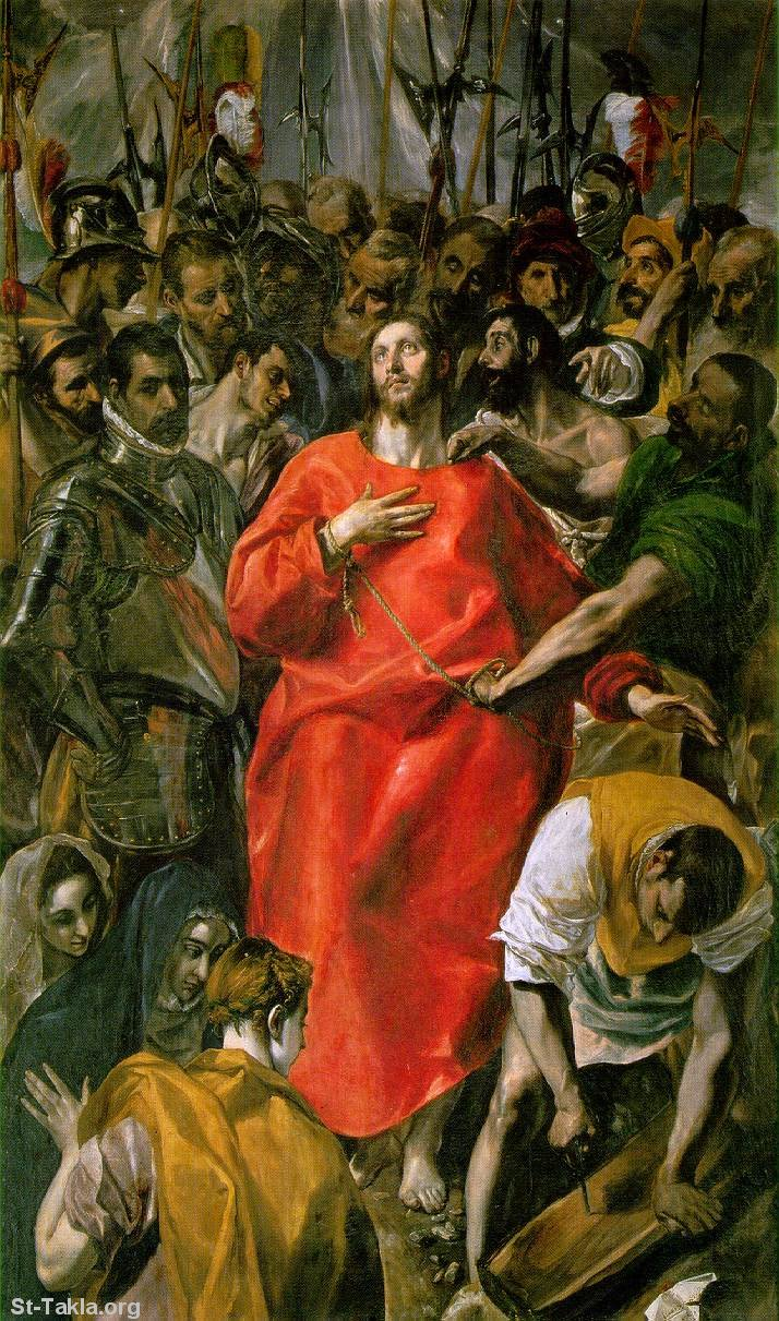 St-Takla.org Image: Passion of Jesus painting by El Greco ���� �� ���� ������ ����: ���� ������ ������ �������