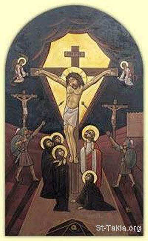 St-Takla.org Image: Modern Coptic icon of Jesus on the Cross ���� �� ���� ������ ����: ���� �� ���� ������ ������: ���� �������