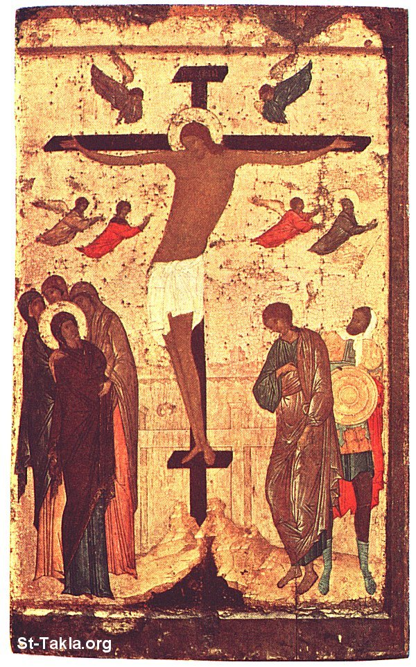 St-Takla.org Image: Jesus on the Cross, ancient icon ���� �� ���� ������ ����: ������ ��� �����ȡ ������ �����