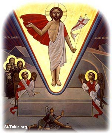 St-Takla.org Image: Coptic icon: The Resurrection of Jesus Christ ���� �� ���� ������ ����: ������ �����: ����� �� ����� ���� ������