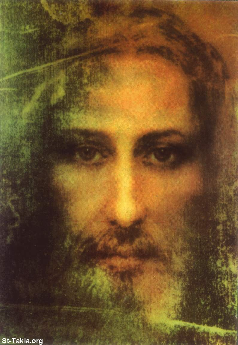 St-Takla.org         Image: The Holy Face of Jesus, by analyzing the Holy Coffin ����: ����� �����ӡ ��� ������ �� ���� ����� ����� ������