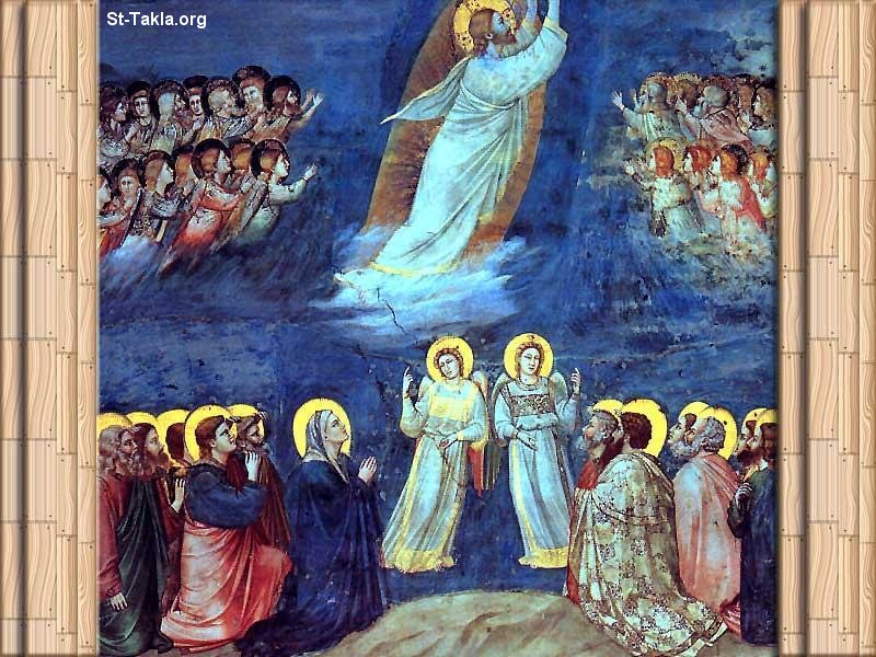 St-Takla.org Image: The Ascension of Jesus Christ in front of the disciples ���� �� ���� ������ ����: ���� ����� ������ ���� ��������
