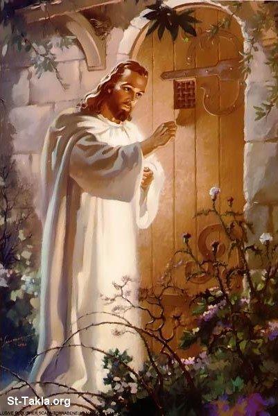 انا واقف على الباب اقرع Www-St-Takla-org___Jesus-Knocking-12