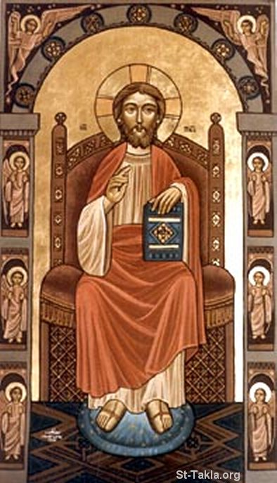 St-Takla.org Image: Coptic icon of Jesus the king Pantocrator ���� �� ���� ������ ����: ������ ����� ���� ������ ����� �����������