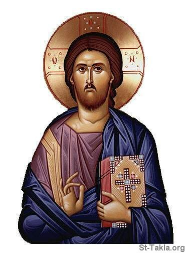 St-Takla.org Image: Icon of Jesus Christ Pantocrator ���� �� ���� ������ ����: ����� ������ ���� ����