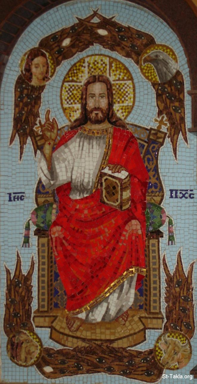 موضوع شامل عن الملائكة  +++++ Www-St-Takla-org___Jesus-Christ-Pantokrator-42