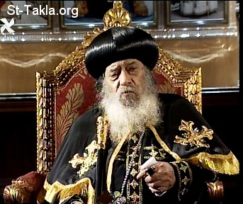 St-Takla.org Image: H. H. Pope Shenouda III ���� �� ���� ������ ����: ����� ������ ����� ������