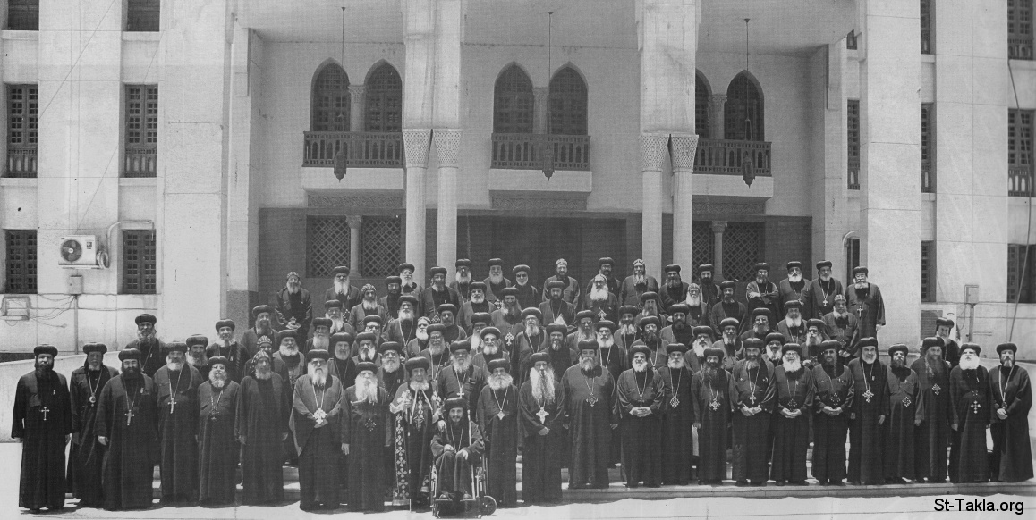 St-Takla.org         Image: The Coptic Orthodox Holy Synod of Egypt (Bishops of the Coptic Church) on June 6, 2009 ����: ����� ������ ������ ������ �� ������� ������� ����������ɡ ������ �������� ������ء ��� 6 ����� 2009