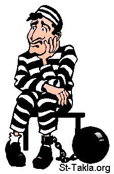 St-Takla.org Image: A prisoner, thief clipart صورة في موقع الأنبا تكلا: كليب آرت سارق، حرامي