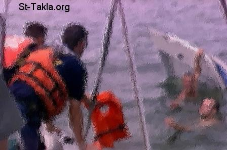 St-Takla.org Image: Saving men from a shipwrecked boat ���� �� ���� ������ ����: ����� ���� �� ���� ����