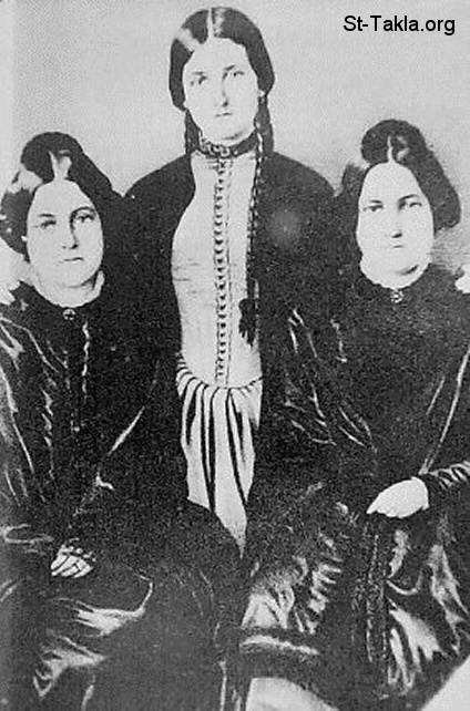 St-Takla.org         Image: The Fox Sisters. From left to right: Margaret, Kate, and Leah ����: ������� ���ӡ �� ������ ��� ������: ������ʡ ��ʡ � ���