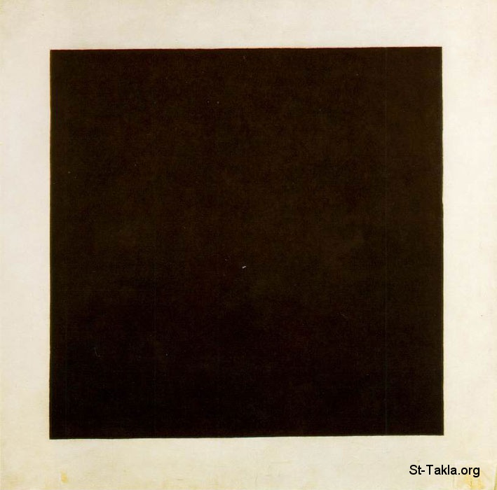 St-Takla.org         Image: Kazimir Malevich, Black Square, c. 1913 - abstract art ����: ������ �����ϡ  ���� �� ��� ������ ������� �������� ��� 1913� �� ������