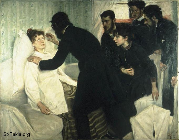 St-Takla.org         Image: Hypnotic seance, 1887, Oil on canvas, Nationalmuseum, Stockholm - by Richard Bergh, 1858-1919 ����: ���� ������ ����� ������ 1887� ��� ��� ���ԡ ��� ������� ���� (1858-1919)� ������ �� ������ ������ ���������