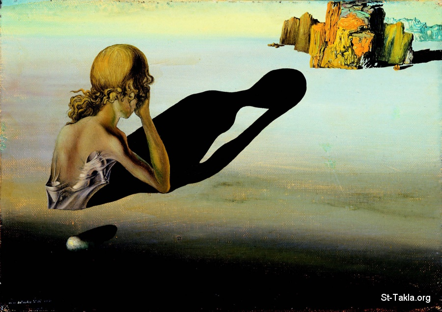 St-Takla.org         Image: Salvador Dali, Remorse Or Sphinx Embedded in Sand, 1931 ����: ��� �� ��� ����� �� ������ ������ ������� ���� 1931