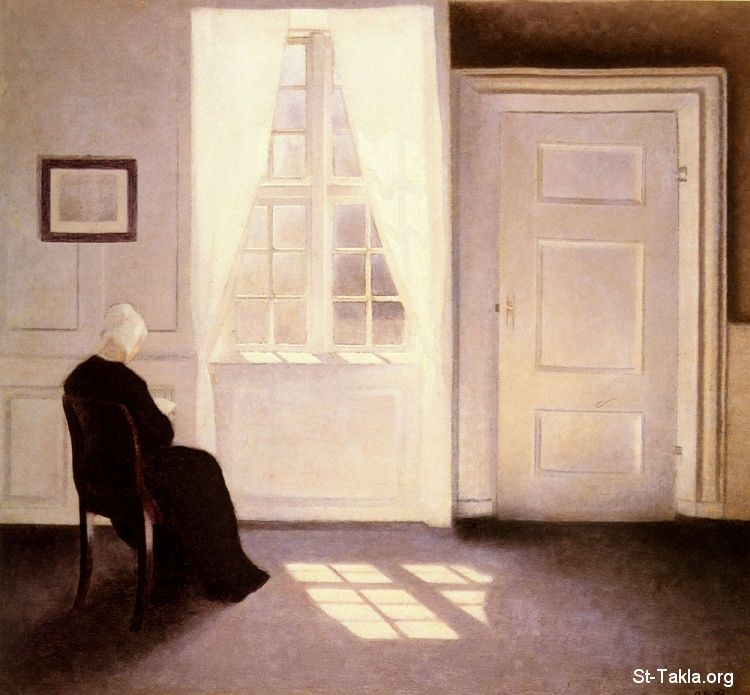 St-Takla.org Image: Hammershoi Vilhelm - A Woman Reading By A Window ���� �� ���� ������ ����: ���� ���� ���� ����� ����ɡ ������ ������� �������