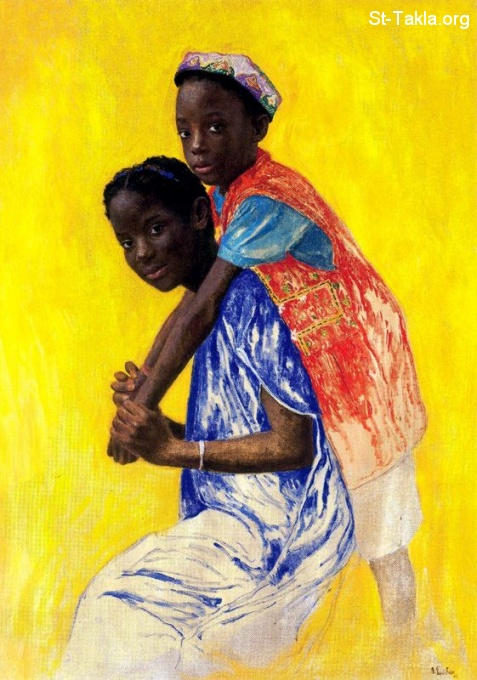 St-Takla.org           Image: Mami Amadou, Painting by Daniel Quintero, 2001 صورة: لوحة بعنوان: مامي أمادو، للفنان دانيال كوينتيرو، 2001