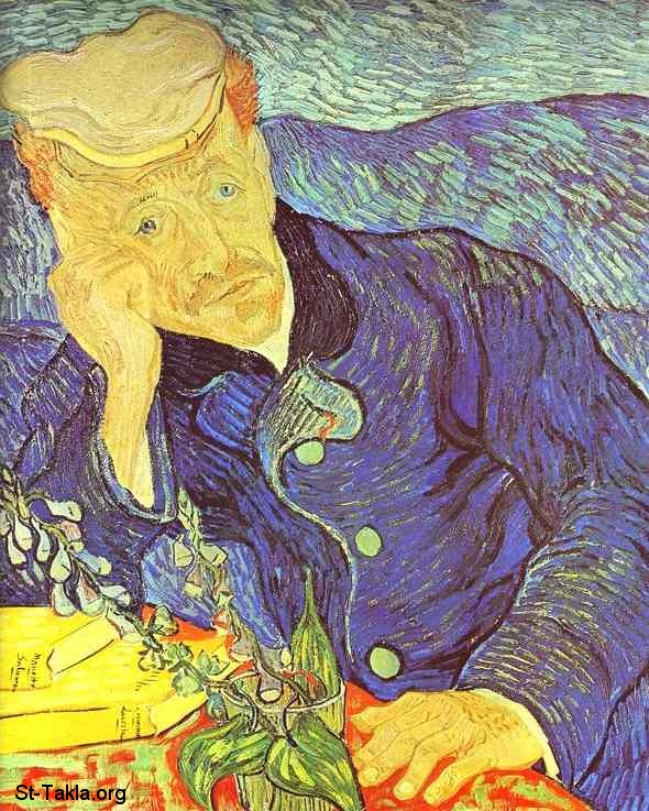 St-Takla.org         Image: Vincent van Gogh - Portrait of Dr Gachet Seated at a Table - Auvers sur Oise, June 1890 ����: ���� �� ��� ������ ������� ��� ��Ρ �. ����� ���� ��� ����ɡ ������ ��� ���ӡ ����� 1890