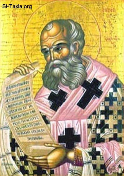 St-Takla.org         Image: Greek icon of Saint Athnasyousa the Egyptian صورة: البابا أثناسويس المصري