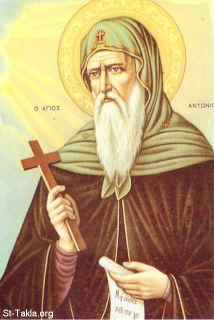 St-Takla.org Image: Saint Anthony the Great, Father of all monks, the Egyptian ���� �� ���� ������ ����: ������ ������ ������ �������� ������ �� �������