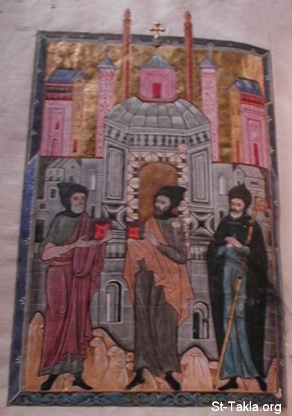 St-Takla.org Image: Icon of Saint Evagrius Ponticus (left), St. John of Sinai, and someone else identity unknown. 17th century ���� �� ���� ������ ����: ������ �. ����� ������ ��� ���� ������ ��������� (������ ��������� ������)� �� ������ ����� �������� �� ����� ������ �� ����� ������ ���� ����