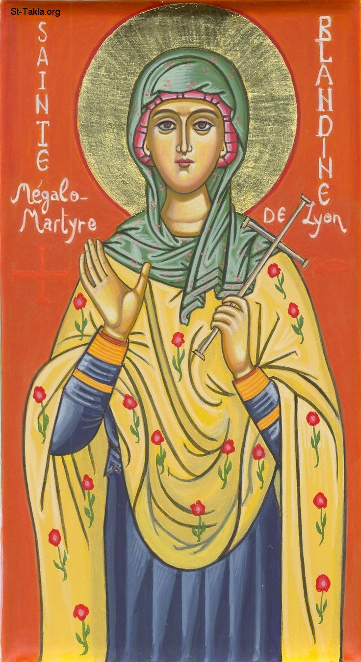 St-Takla.org Image: Icon of St. Blandina of Lyons, early martyr ���� �� ���� ������ ����: ������ ������� �������� (��������) �� ����