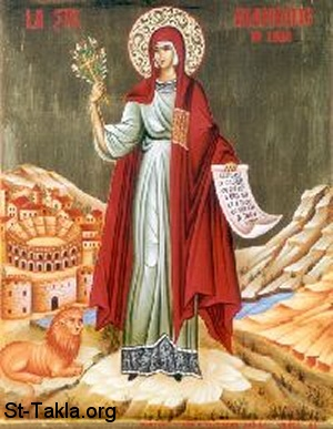 St-Takla.org Image: Icon of St. Blandina of Lyons, early martyr with Martyrs: Maturus, Sanctus, Pontius ���� �� ���� ������ ����: ������ ������� �������� (��������) �� ���� ��� ������� �� ����� ����� ��� ������ӡ ������ӡ �������