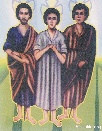St-Takla.org Image: Saints Martyrs Soros, Antokious and Mashhadry from Esna ���� �� ���� ������ ����: ������ ������� ����� � �������� � ������