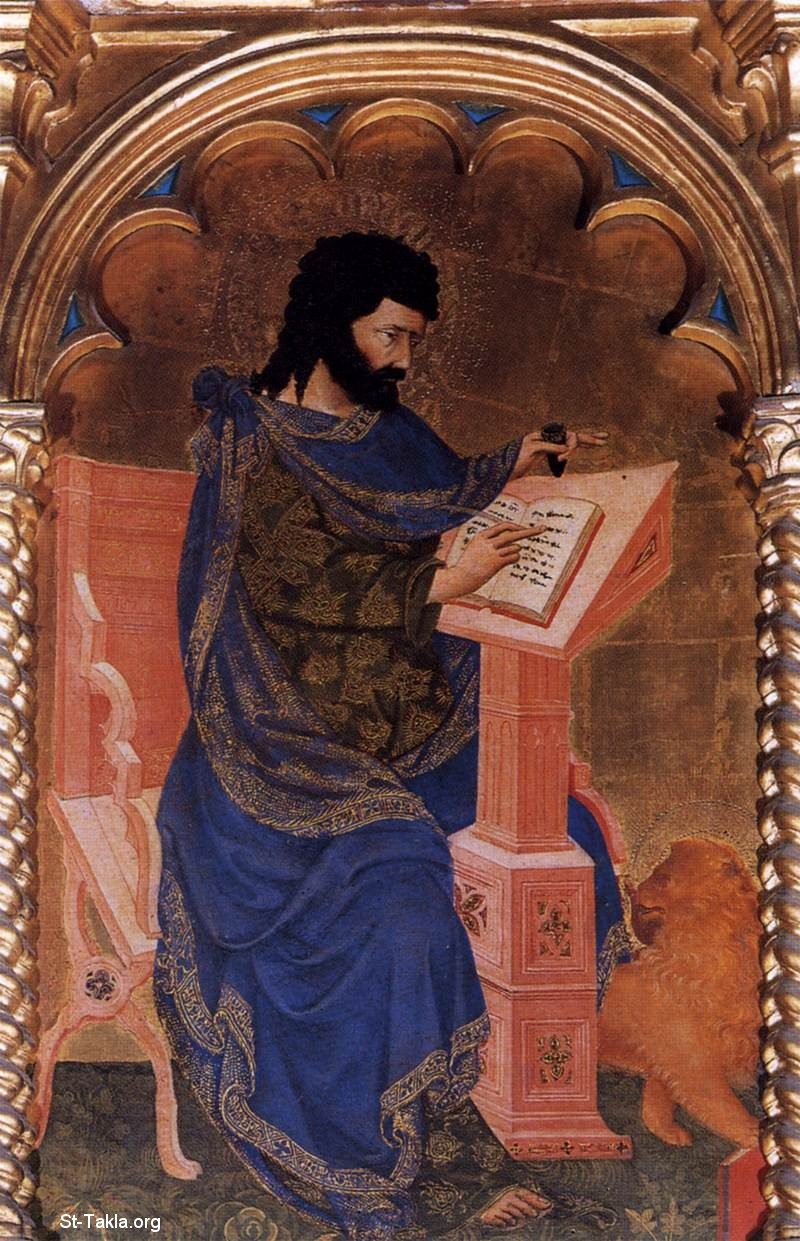 St-Takla.org         Image: St Mark - Michele Di Matteo - religious Painting Art - 1427 - Tempera on panel - Gallerie dell'Accademia, Venice ����: ������ ���ӡ ���� ������ ������ ����� �� ����� ��� 1427� ����� ��� ��͡ �� ������ �������� ������ ������ɡ ��������