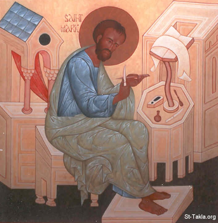 St-Takla.org         Image: Saint Marc the preacher of Egypt صورة: القديس مرقس كاروز مصر