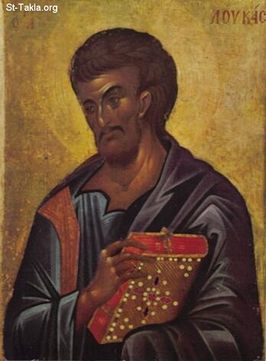 St-Takla.org         Image: Ancient Greek icon of Saint Mark the Evangelist ����: ������ ������� ����� ���� ������ ���� ��������