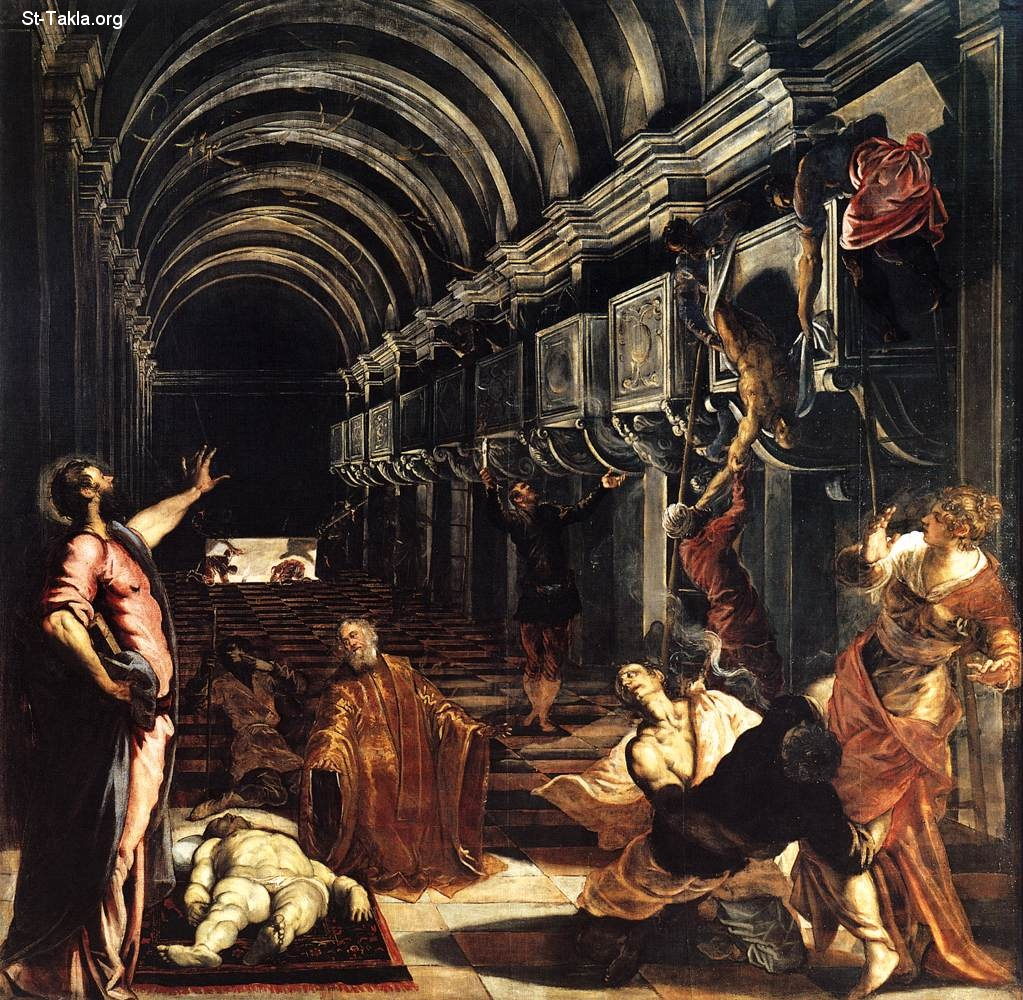 St-Takla.org         Image: Tintoretto - St Mark Working Many Miracles - 1562-66 - Oil on canvas, 396 x 400 cm - Pinacoteca di Brera, Milan ����: ���� ������ ������ ��������� ��� 1562-66 ������ǡ ��� ��� ���� ����� 396�66� ���� ������ ��� ������ ���� �������� �� ���������� �� ����ǡ ������