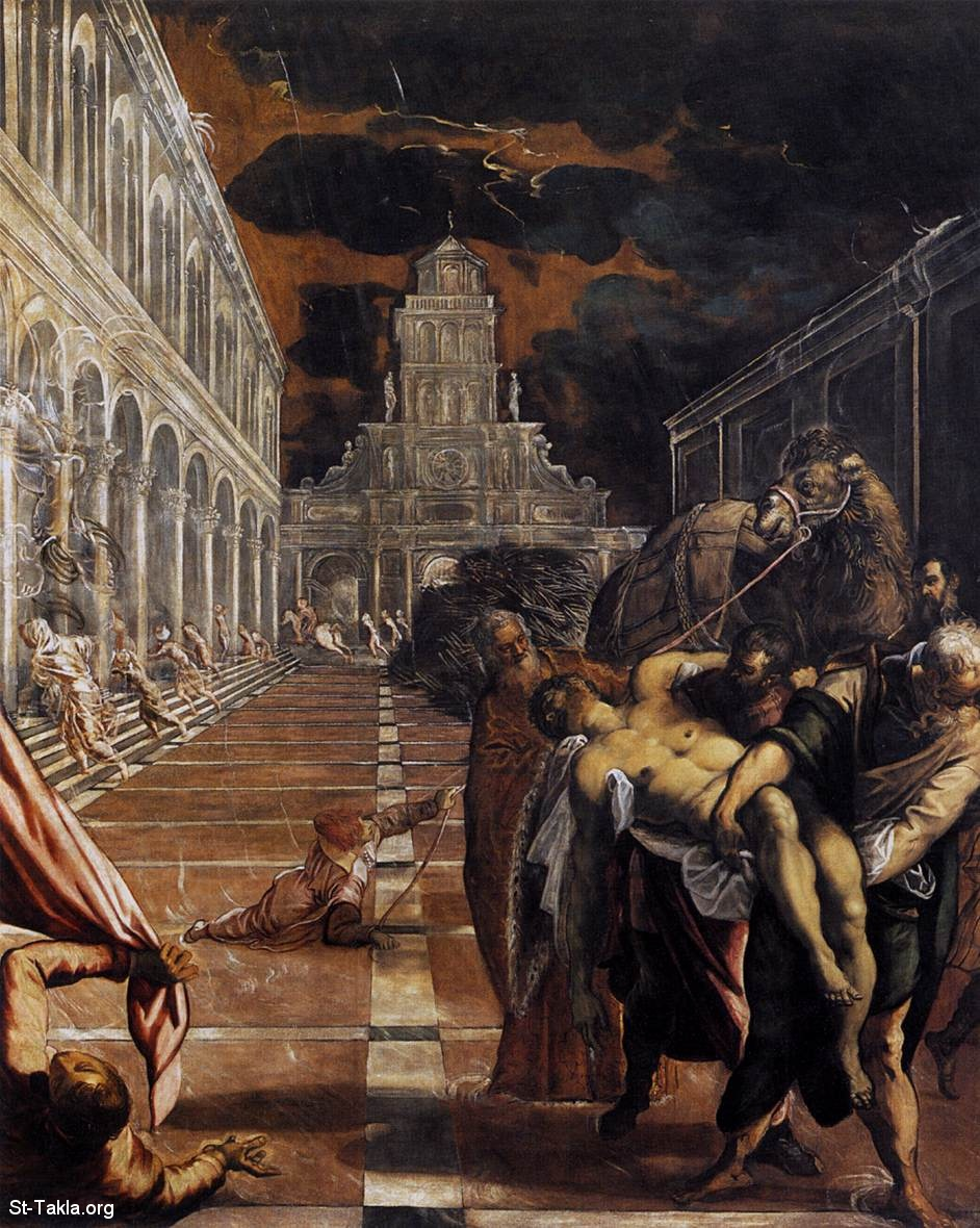 St-Takla.org         Image: Tintoretto - The Stealing of the Dead Body of St Mark - 1562-66 - Oil on canvas, 398 x 315 cm - Gallerie dell'Accademia, Venice ����: ���� ��� ������� ����� �� ��� ����� �� �������� ��� �������� �� ���������ɡ ���� ������ �������� 1562-66� ��� ��� ���ԡ ����� 398�315� ������ �� ���� ������ ��� �������ɡ ������� (��������)
