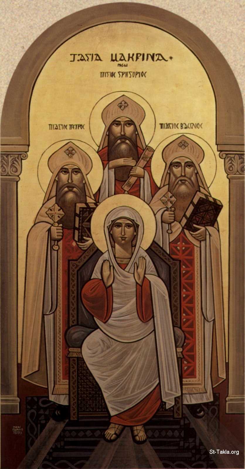 St-Takla.org Image: St. Macrina the Elder and sister of St. Basil and St. Gregory of Nyssa and St. Peter of Sebastea by Isaac Fanous ���� �� ���� ������ ����: ������ ������� ������� ����� ������ ��� �� ������ �������� � ������ ���������� ���� ���ա ������� ���� ���� ������