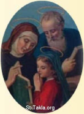 القديسة والدة العذراء مريم والدة