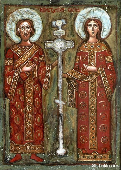 St-Takla.org Image: Ancient icon of Saint Helena the Queen and Saint King Constantine ���� �� ���� ������ ����: ������ ����� ���� ������� ������ ������ ����� ������ ������ � ������� ������ �����