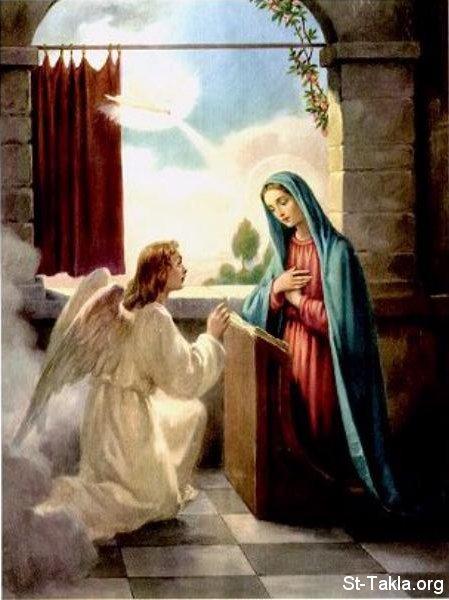 صور البشارة للقديسة مريم العذراء