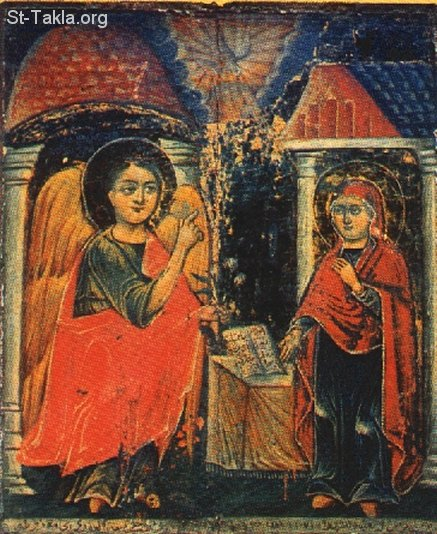 St-Takla.org Image: An old Coptic icon of the Annunciation of Angel Gabriel to St. Mary dans Approfondissement www-St-Takla-org__Saint-Mary_Annunciation-of-Angel-08