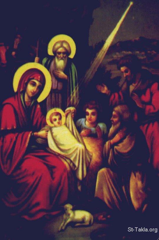 الميلاد المجيد 2012 خلفيات الميلاد www-St-Takla-org__Saint-Mary_Nativity-3-Shepherds-02.jpg